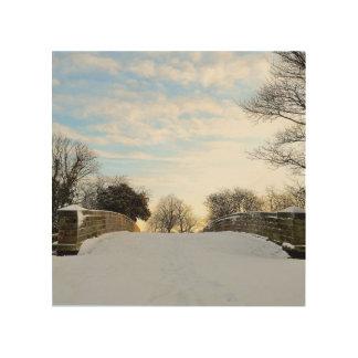 Winter Bridge Wood Canvases