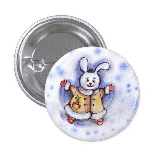 Winter Bunny Button