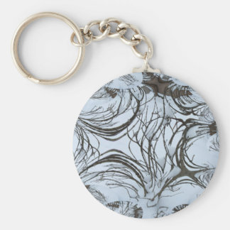 Winter Bushtree Abstract Keychains