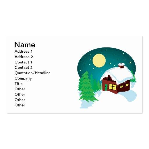 Winter Cabin Business Card Templates