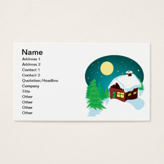 Winter Cabin Business Card