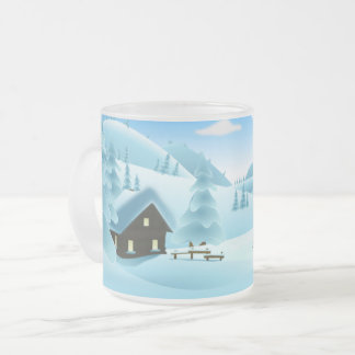 Winter Cabin Frosted Mug
