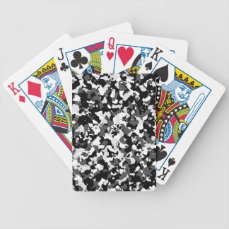 Winter camo pattern bicycle playing cards