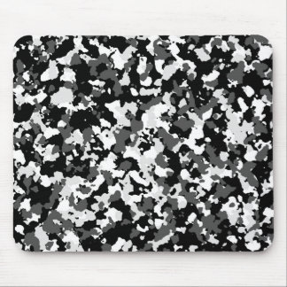 Winter camo pattern mouse pad