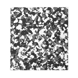 Winter camo pattern notepad