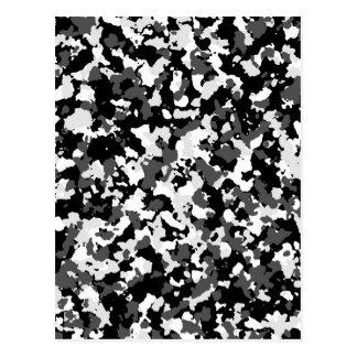 Winter camo pattern postcard