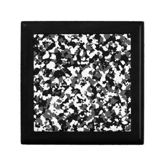 Winter camo pattern small square gift box