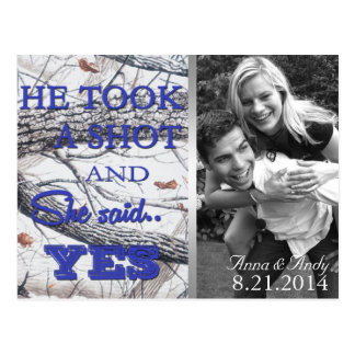 Winter Camo Save The Date Wedding Postcard Post Card