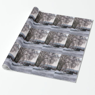 WINTER CANAL WRAPPING PAPER