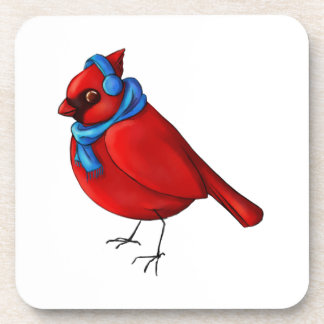 Winter Cardinal Beverage Coaster