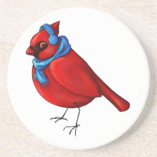 Winter Cardinal Coaster