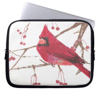 Winter Cardinal Laptop Computer Sleeves