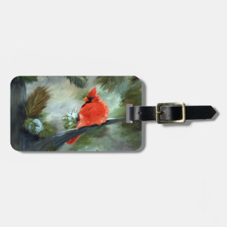 Winter Cardinal Luggage Tag