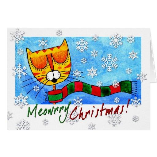 Winter Cat - Meowrry Christmas! Card