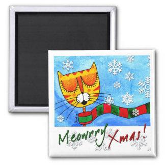 Winter Cat - Meowrry Xmas! Magnet