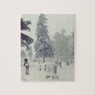 Winter Cemetery Jigsaw Puzzles