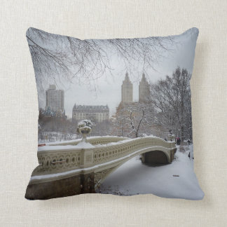 Winter - Central Park - New York City Cushion