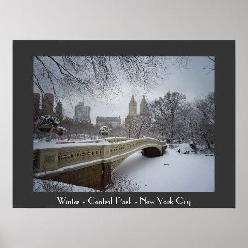 Winter - Central Park - New York City Print
