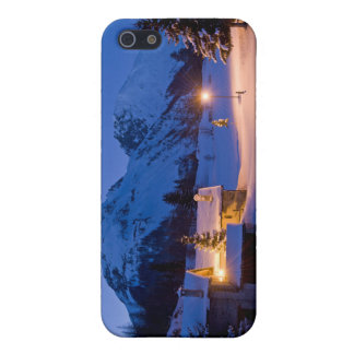 Winter chalets sunrise cases for iPhone 5