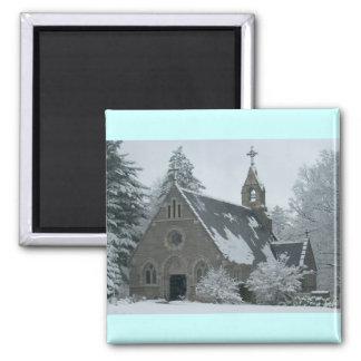 Winter Chapel Magnet