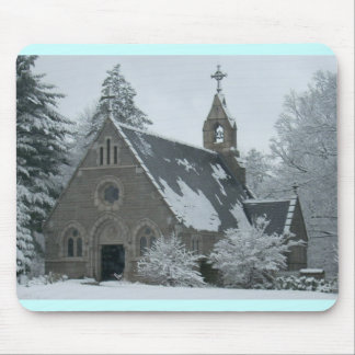 Winter Chapel Mouse Pad
