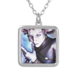 Winter Chill Silver Plated Necklace