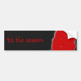 Winter Christmas Berries 'tis the season Bumper Sticker