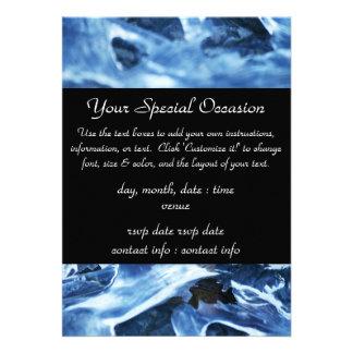 Winter + Christmas Light Blue Ice Custom Invitation
