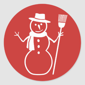 Winter Christmas Snowman Stickers