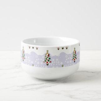 Winter Christmas Tree Pattern Soup Mug