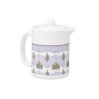 Winter Christmas Tree Pattern With Border