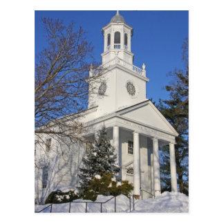 Winter Church Postcard