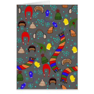 Winter clothes card