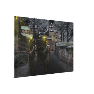 Winter coach canvas print