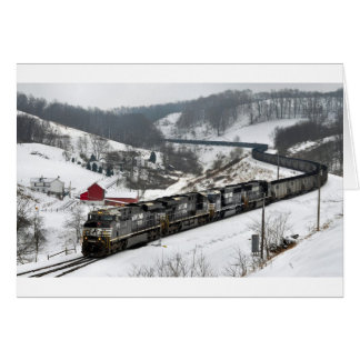 Winter Coal Train Card