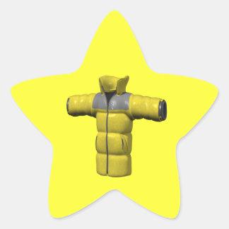 Winter Coat Yellow Stickers