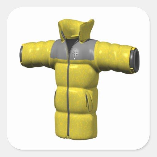 Winter Coat Yellow Sticker