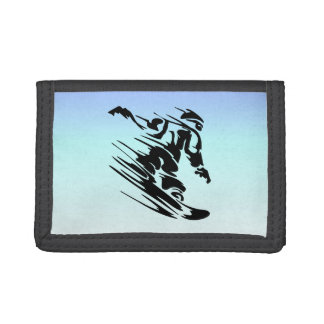 Winter Colors Fast Snowboarder Trifold Wallet