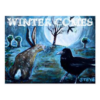 Winter Comes Postcard