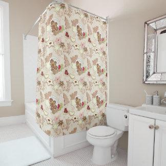 Winter Cookies Pattern Shower Curtain