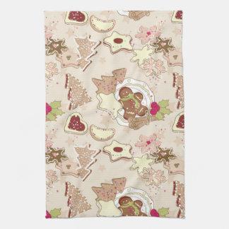 Winter Cookies Pattern Tea Towel