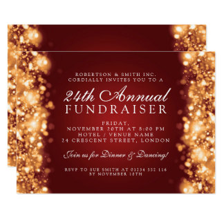 Winter Corporate Party Fundraiser Gala Gold Red Card