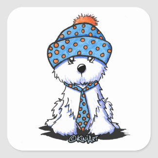 Winter Coton de Tulear Square Sticker