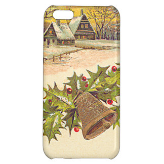 Winter Cottage Bell Holly Winterberry Snow iPhone 5C Cover
