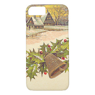 Winter Cottage Bell Holly Winterberry Snow iPhone 7 Case