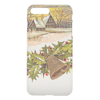 Winter Cottage Bell Holly Winterberry Snow iPhone 7 Plus Case