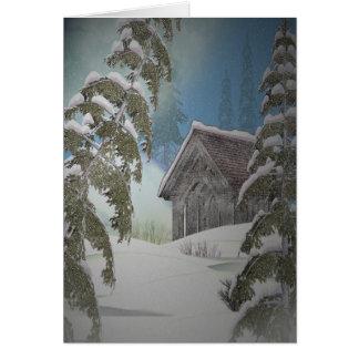 Winter Cottage Card