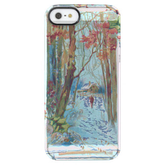 Winter Cottage Holly Winterberry Snow Walk Clear iPhone SE/5/5s Case