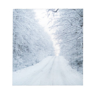 Winter Country Road Scene Notepad