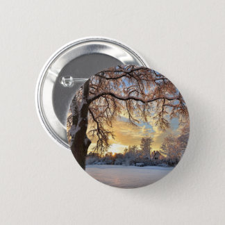 Winter Countryside In Latvia 6 Cm Round Badge